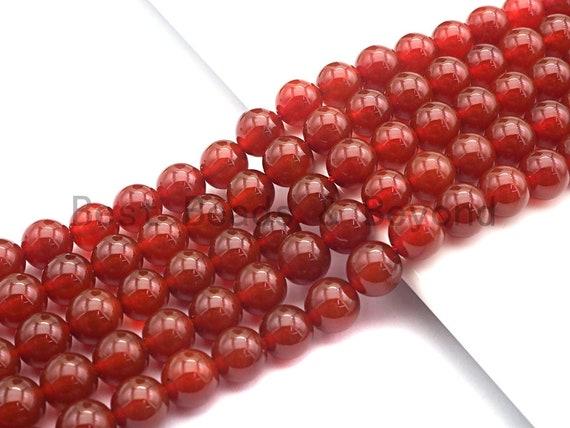 "Quality Natural Red Carnelian beads, 6mm/8mm/10mm/12mm round smooth Carnelian beads,15.5"" full strand, sku#U522"