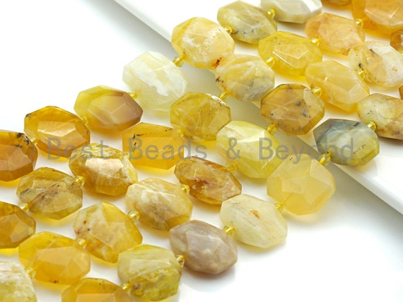 High Quality Natural Yellow Opal Rectangle Faceted Beads, Natural Opal beads, 16x22mm, sku#U653