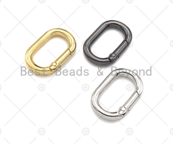 30mm Oval Spring Gate, Gold/Silver/Gunmental Oval Clasp, Snap Clip Trigger Clasp, Spring Buckle for Chain Purse Key Jewelery, sku#H308