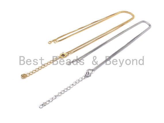 1pc/5pcs 18inches gold/Silver Color Chain with Loster Claw, Toggle necklace chain, Y Necklace Finding for Link Connector, sku#P51