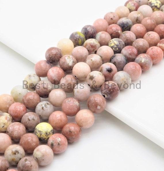 Quality Natural Pink Bloodshot Agate Round Smooth Beads,6mm/8mm/10mm/12mm beads,Rose Pink Gemstone, 15.5inch strand, SKU#U394