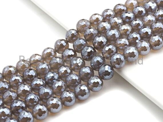 "Mystic Faceted Agate Beads,6mm/8mm/10mm/12mm, Dark Champagne Color Agate Gemstone beads, 15.5"" Full Strand,sku#UA63"