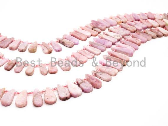 High Quality Natural Kunzite Teardrop beads, 23-38mm, Long Teardrop Pink Gemstone Beads, 15.5inch strand, SKU#U144