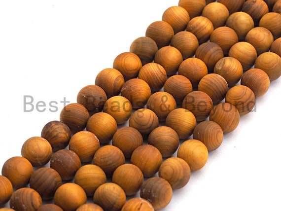 Natural Smooth Round Wood beads, 6mm/8mm/10mm/12mm Natural Yellow Wood beads, Natural  Wood Grain Beads, 15.5inch strand,SKU#U465