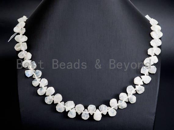 Natural White Moonstone beads, 11-15mm Teardrop White Gemstone Beads, 15-16 inches strand, SKU#U166
