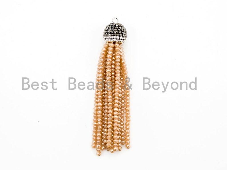 Black Pearl Tassel Enchancer Pendant