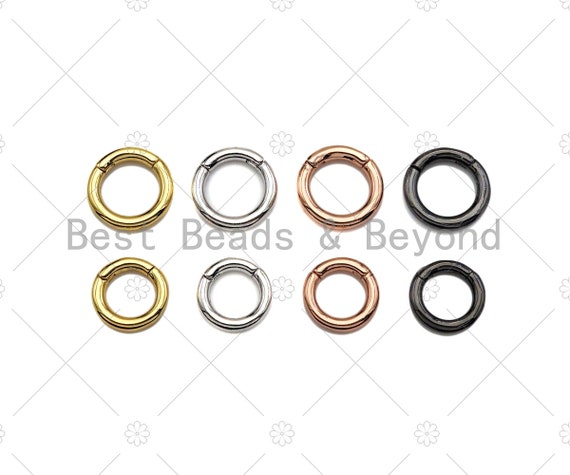 12mm/14mm Spring Gate, Gold/Silver/Gunmental/Rose Gold Round Clasp, Snap Clip Clasp, Spring Gate for Chain Purse Key Jewelery, sku#H322