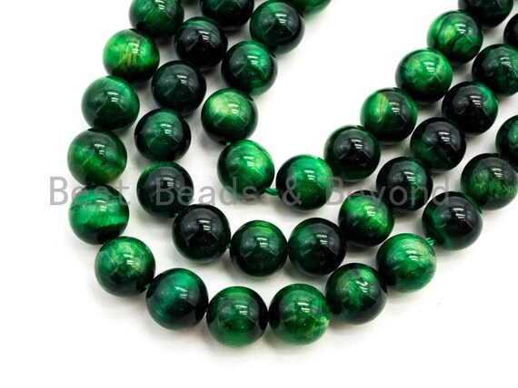 High Quality Natural Green Tiger Eye Round  Beads, 8mm/10mm/12mm Round Beads, Green Tiger Eye Gemstone Beads, 15inch Full strand, SKU#U68