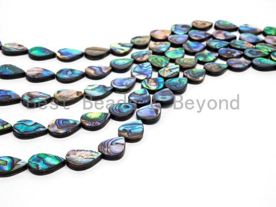 Natural Flat Teardrop Abalone Shell beads, 8x12mm/10x14mm/12x16mm/13x18mm Teardrop Smooth Shell Beads, loose abalone, 16inch strand,SKU#R3