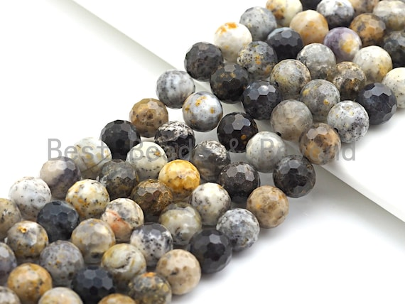 """Speical Cut Natural Black Opal Beads, Round  Faceted Beads, 6mm/8mm/10mm/12mm, 15.5"""" Full Strand, sku#U647"""