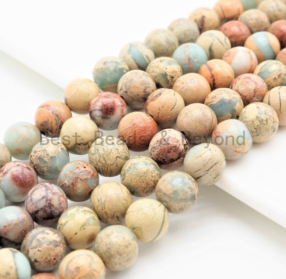 Quality Natural Serpentine Round Smooth Beads, 4mm/8mm/10mm/12mm African Opal beads, Gemstone Beads, 15.5inch strand, SKU#U312