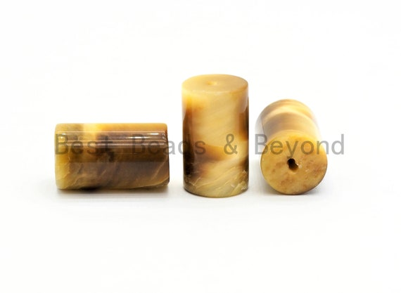 1pc/10pcs/20pcs High Quality Golden/Red Tiger eye Cylinder Tube Shape Beads, Natural Golden Tiger eye Beads, 12x20mm,Sku#U383