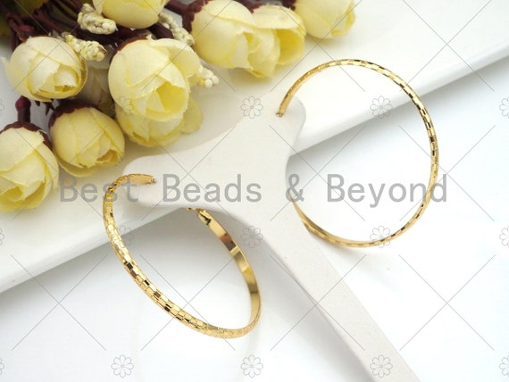 Gold Twisted Large Hoop Earrings, Thin Gold Hoop Earrings, Statement Hoops, Hoops Earring gift for her, 50mm,Sku#J299