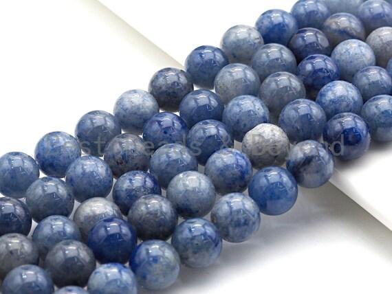 "Natural Blue Aventurine, Round Smooth 6mm/8mm/10mm/12mm, 15.5"" Full Strand, sku#U638"