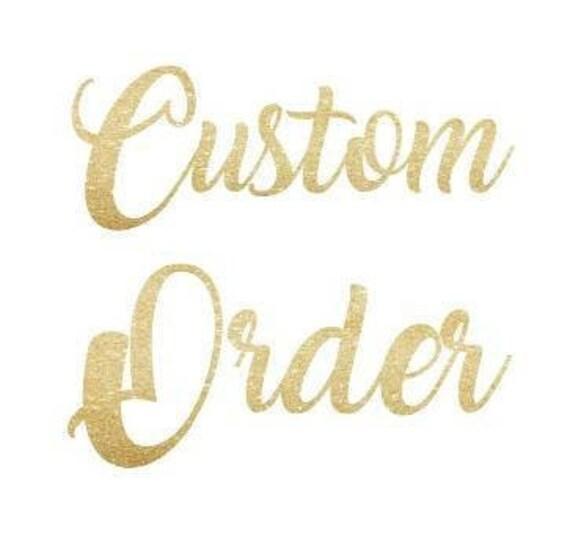 custom order for Amma