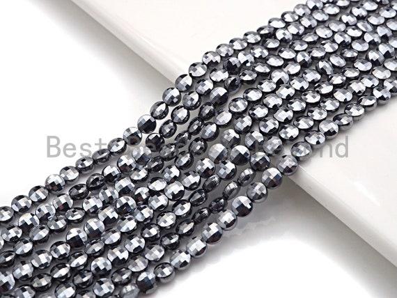 "Natural Tera Heartz Checker Board Cut Coin Shape beads, 4mmTurtle Shell Cut Beads, 16"" Full Strand, sku#U806"
