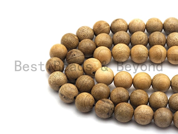 Natural Smooth Round Wood beads, 6mm/8mm/10mm/12mm Natural Yellow Wood beads, Natural  Wood Grain Beads, 15.5inch strand,SKU#U466