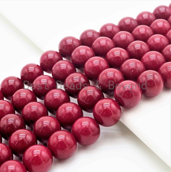Smooth/Faceted Round Dyed Ruby Jade beads, 8mm/10mm/12mm/14mm Red Gemstone beads, Ruby Jade Beads, 15.5inch strand, SKU#U258
