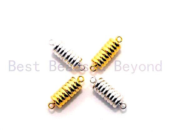 Silver/Gold/Black Plated Strong Magnetic Cylinder Clasp, 8X23mm Clasps, Beading supplies, Secure Clasp,SKU#C65