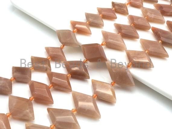 High Quality Natural Peach Moonstone Horse Eye Shape Beads, Natural Moonstone beads, 16x30mm, sku#U671
