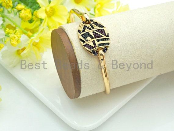 PRESELLING Micro Pave Buckle Bracelet, Cubic Zirconia Gold Bangle bracelet, Bangle bracelet, Minimalist Jewelry, sku#X152