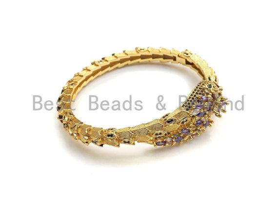 PRESELLING Micro Pave Snake Wrap Bracelet, Cubic Zirconia Snake bracelet, Bangle bracelet, Gift for her, sku#X153