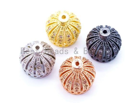 10mm/13mm/20mm CZ Micro Pave Crown Cap Bead,Cubic Zirconia Tassel Cap Beads, Gold/Silver/Rose Gold/Black Tassel Cap Beads, 1/2/4pcs sku#F65