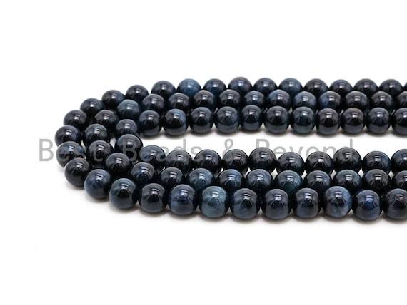 High Quality Natural Blue Tiger Eye Round Beads, 4mm-20mm Round Beads, Blue Tiger Eye Gemstone Beads, 15inch Full strand, SKU#U64