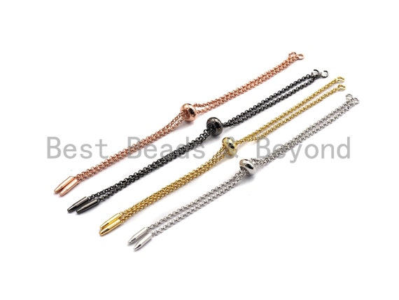 NEW Style Sliding adjustable Half finished bracelet Chain, Linked bracelet Chain, sku#Z630