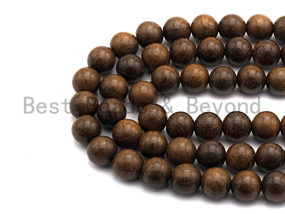 Natural Smooth Round Wood beads, 6mm/8mm/10mm/12mm Natural Brown Wood beads, Natural  Wood Grain Beads, 15.5inch strand,SKU#U469