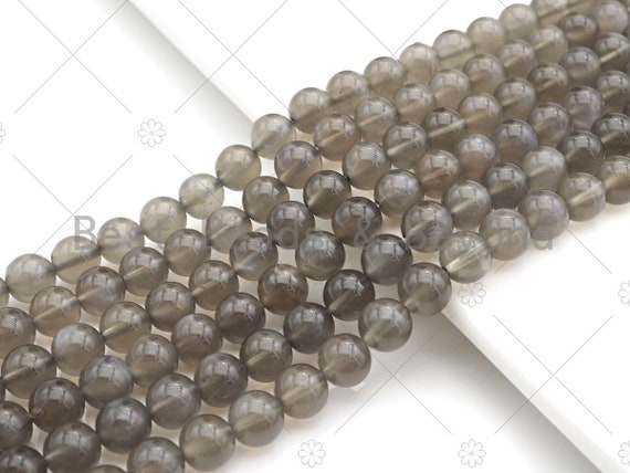 "Top Quality Natural Black Moonstone Round Smooth Beads, 6mm/8mm/10mm High Polished  Black Moonstone Beads,15.5"" Full Strand, sku#U992"