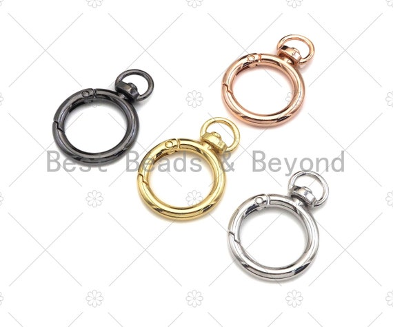 28mm Round Buckle Spring Gate, Gold/Silver/Gunmental/Rose Gold Clasp, Snap Clip Clasp, Spring Buckle for Purse Key Jewelery, sku#H313