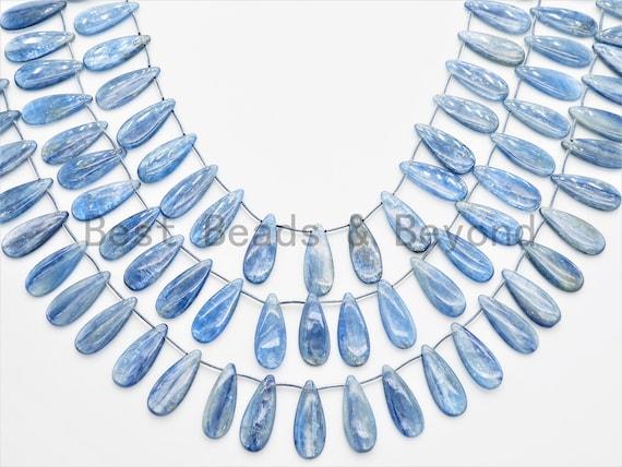 High Quality Natural Kyanite beads, 10x24mm/12x25mm,Teardrop Top Drilled Gemstone Beads, 16inch strand, SKU#U327