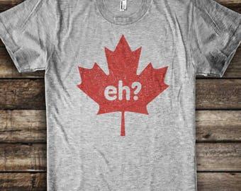 ed2ab2939 Funny Canada Eh Shirt - Canadian Flag - Maple Leaf - Eh? Shirt - Funny Canada  T-Shirt - Canada Maple Leaf Shirt - Retro Vintage Canada