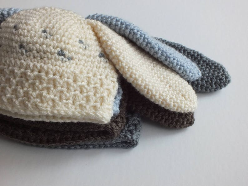 12 mo Avery Bunny Hat Sizes Newborn 36 mo /& Toddler CROCHET PATTERN
