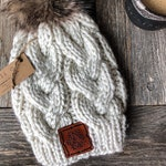 Knit Beanie Pattern / Monster Cables \ Knitting Hat Handmade DIY Beginner Chunky Yarn