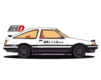 Initial D AE86 model Drink Cup Holder A//C Holder Black F//S with Tracking number
