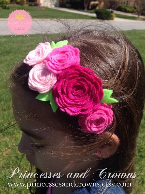 Petit bandeau fille, fille de fleur, bandeau de fille de fleur, couronne de fleurs fille, Accessoires cheveux pour bébé fille, petit prop de photo de jeune fille, Shabby chic