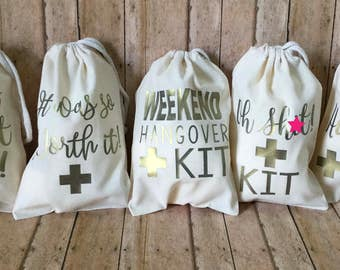 Hangover Kit Bachelor Party Bachelorette Oh Sht Wedding Gift Girls Night Out Favor Bag 21st Birthday