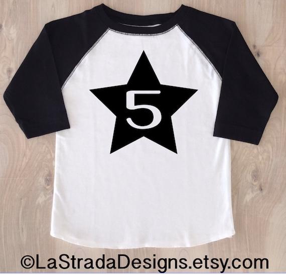 Star Birthday Boy Shirt Baseball Fourth