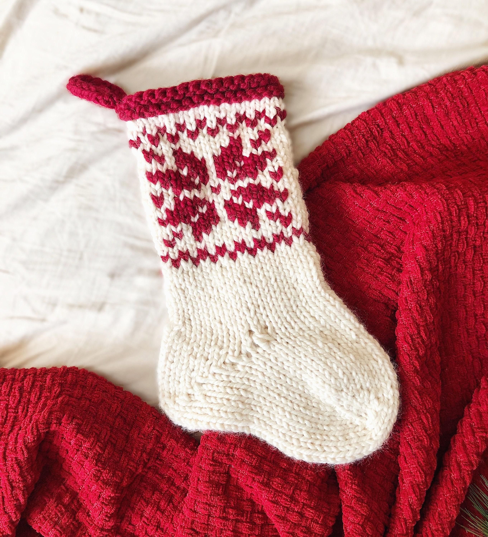 KNITTING PATTERN: Christmas Stocking Knit Chunky Knit Home | Etsy