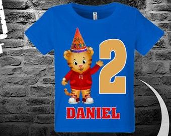 Daniel Tiger Birthday shirt, Custom your name, Custom year,.