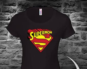 c3606120e64bd SuperMom Birthday T-Shirt, Ladies Cutom T-Shirt, SUPERMOM, Super Mom.
