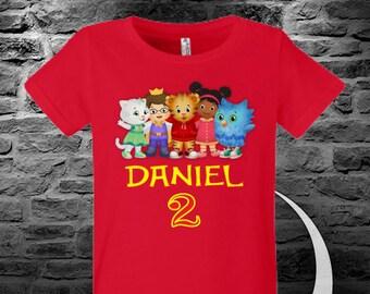 Daniel Tiger Birthday shirt, Custom your name, Custom year.