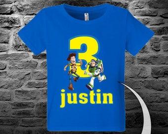Toy Story Birthday Shirt - Boys Toy Story Birthday Shirt - Raglan Available