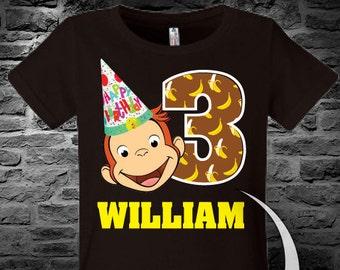 Curious George Birthday Shirt.