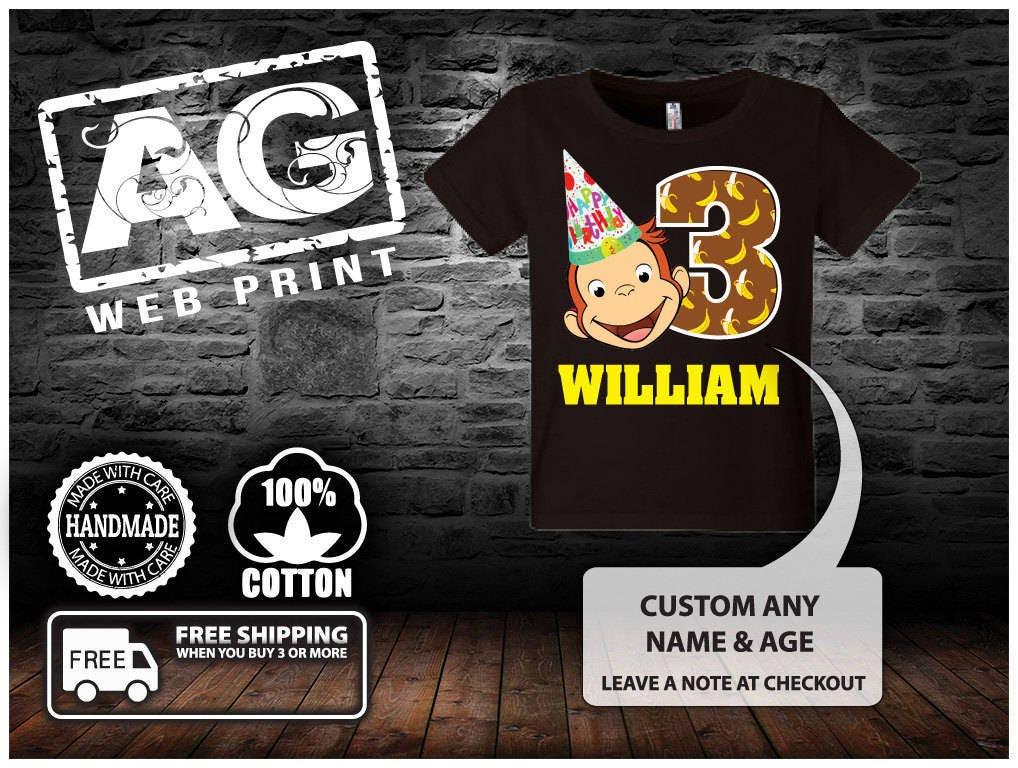 ac8e9b24 Curious George Custom T-Shirt | Etsy