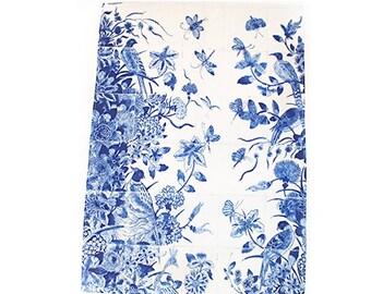 Tea towel delfs blue birds
