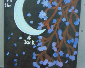 Love you to the moon & back tree