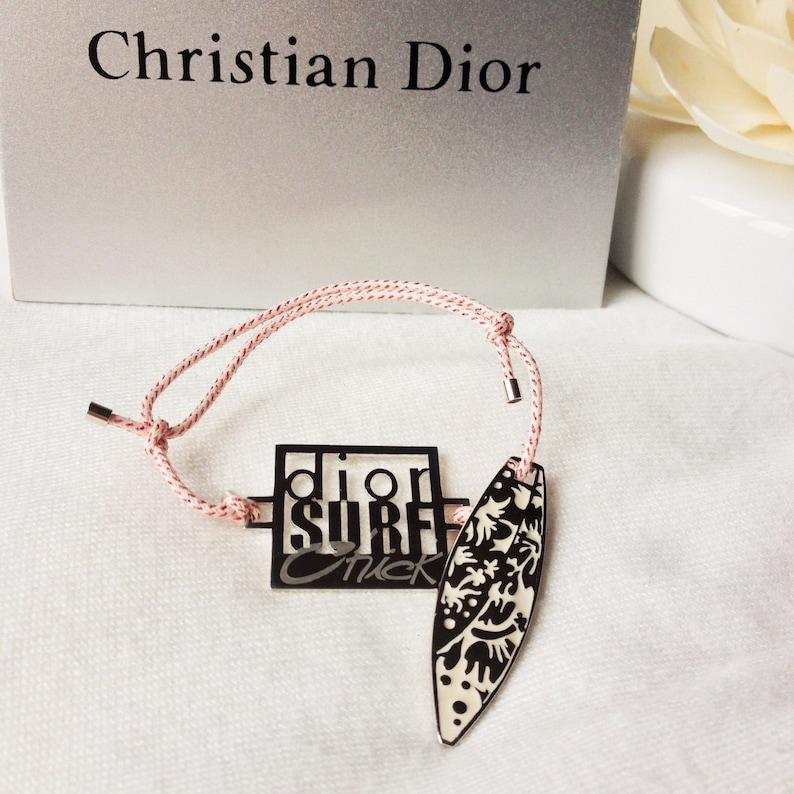 7acf7e81de Dior Surf bracelet Christian Dior Paris authentic pink   Etsy
